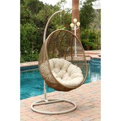 Outdoor Wicker Swing