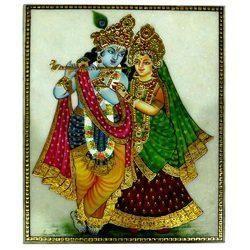 Marble Radha Krishna Painting