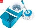 Blue, Peach & Green Double Device Foldable Spin Mop, Size: 20 X 10 X 9.75