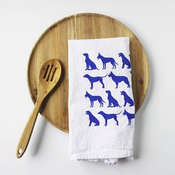 Hand Printed Flour Sack Dish Cloth