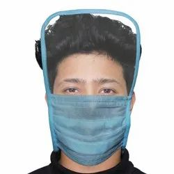 Oriley Disposable 3 Ply Face Mask With Eye Shield Anti Spittle Splash (1 Pc)