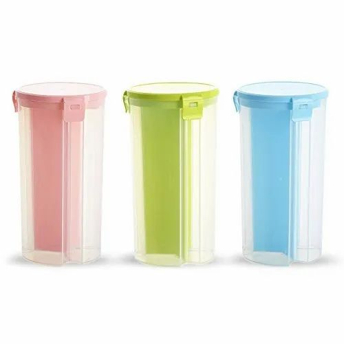 Neo Plastic 3 Grid Airtight Container, Packaging Type: Box