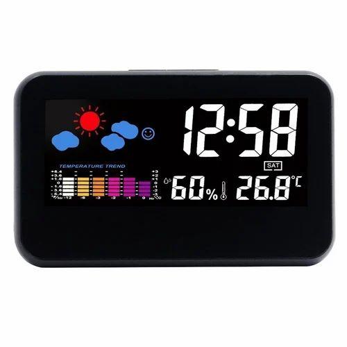 Weather Station Led Digital Lcd Time Display Desk Clock