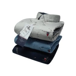 Men Printed Cotton Fancy Shirt, Size: S-XXXL