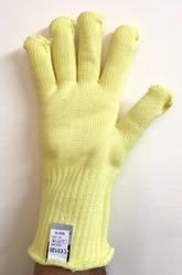 Full Fingered And Plain Kevlar Knitted Dupont Yarn Gloves 300 To 400 14 Inch Midas