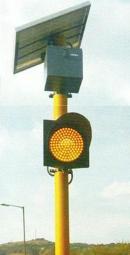 Solar Traffic Signal Blinker 12 V Dc 24 V Dc For Road