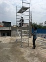 Crystal Aluminium Mobile Scaffolding Tower Single Width 075 X 2.00 X 3.20 Meters Without T Joints