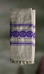 Intricately Handwoven Shawl Made Of Tussar Silk And Cotton