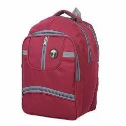 Polyester Pink Shoulder Backpack