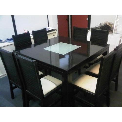 Black 8 Seater Dining Table Rs 16000 Piece Wooden Arts Industries Id 17592689991