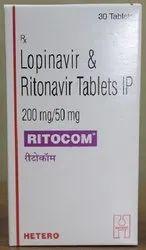 Ritocom Lopinavir & Ritonavir Tablets 200 mg