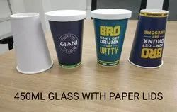 Plain White 450ML Paper Cup, For Hot Beverages