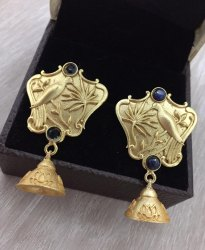 Brass Drop Earring Antique Gold Earrings
