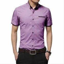 Mens Plain Half Sleeve Fancy Shirt, Packaging Type: Packet