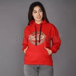 Hooded Printed Women 100% Cotton Fleece sweatshirts