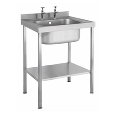 Stainless Steel Single Sink Unit, Finish Type: Matte, Glossy