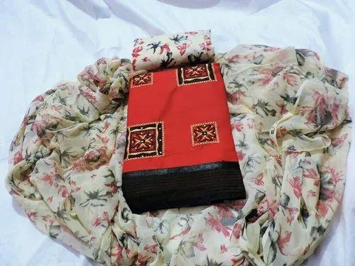 Ladies Cotton Salwar Suit Material, Packaging Type: Packet