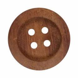 Brown BBS Wooden Button