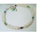 Ps Daima White Handmade Beaded Bracelets