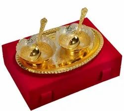 Decorative Silver Gold Plated Bowl Set For Wedding Gifts