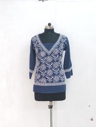 Fancy Ladies Chikan Embroidered Top
