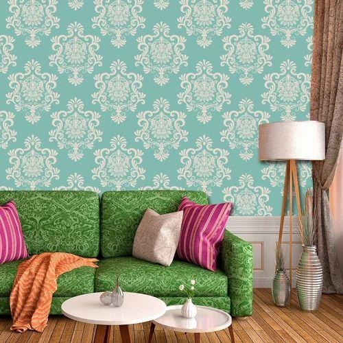 Multi Canvas Wallmantra Damask Design Textured Designer Pattern Wallpaper For Living Room 57 Sq Feet