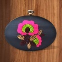 Oval Shaped Box Clutch