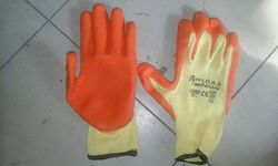 Cut Resistance Orange Coated Hand Gloves