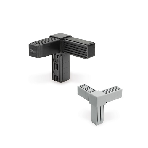 Grey-black Elesa And Ganter `CSTC Square Tube Connectors