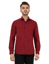 Maroon Color Plain Shirt