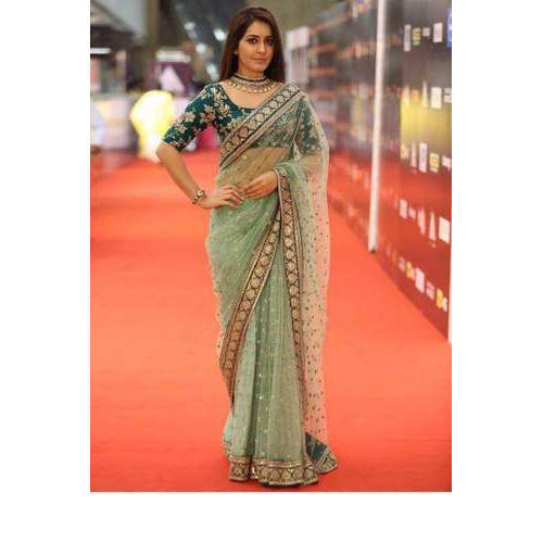 65df3e8170 Party Wear Net Ladies Saree, Rs 550 /piece, Akchra Trading Private ...