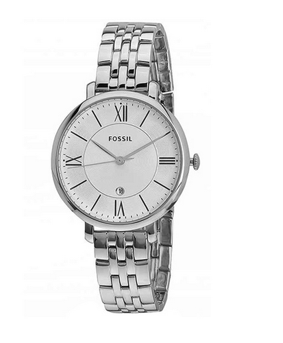 b8d15677366 Fossil Silver Jacqueline Round Analog Silver Dial Ladies Watch ...