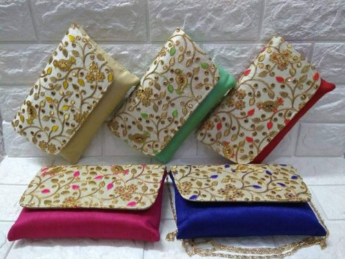 Female Party Embroidered Clutch Bag