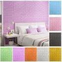 3D Brick Pattern Foam Base Wall Stickers