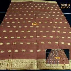Embroidered Ethnic Wear Tant Pure cotton Saree
