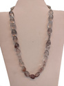 Bronze Gemstone Natural Alister Quartz Gemstone Tumble Beads Stone Necklace