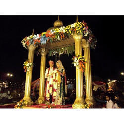 Temple Theme Wedding Stage