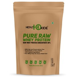 Healthoxide Pure Raw Whey Protein Concnetrate 80% 1 Kg