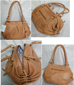 Brown Leather Stylish Ladies Shoulder Bag, For Office