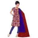Red Bandhani Fancy Suit