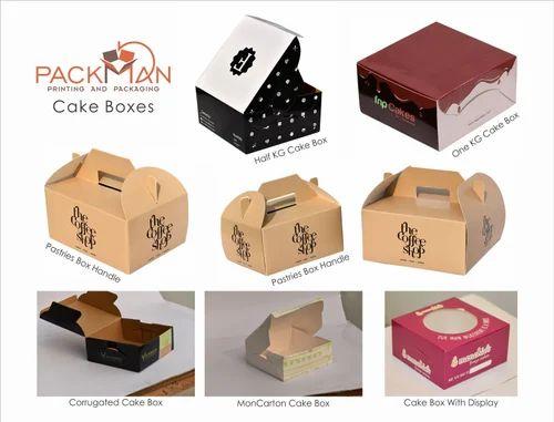 Cake Box 12 X 12 X 4.00 Inches - 3 Ply Corrugated Box