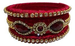 Stylish Designer red Silk Thread Bangle For woman and girls