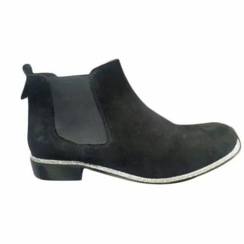 Biloch Leather Mens Ankle Black Boots