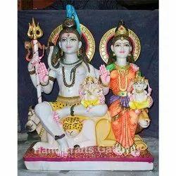 Pure Marble Shiv Pariwar Statue
