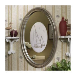 Oval Etched Mirror