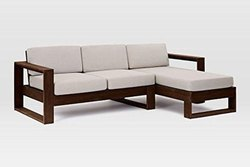Aditya Furniture Wooden L Shape Corner Sofa Set, Living Room, Size: 8+6 Feet