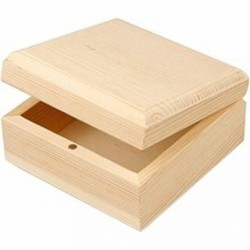 Brown Square Wooden Pallet Box