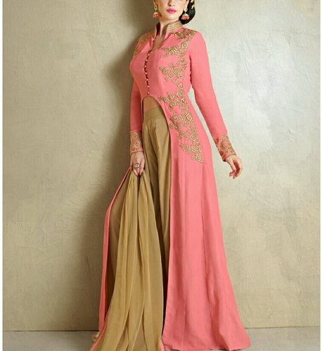 98d4868cee Pastel Pink And Green Ladies Designer Palazzo Suit, Rs 2875 /piece ...