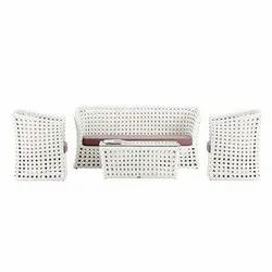 Universal Furniture White 5 Seater Sofa Set with Table