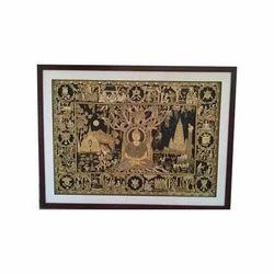 Rectangular Buddha Temple Sikki Work Frames